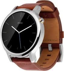<b>Умные часы Motorola</b> Moto 360 46mm Silver Cognac – отзывы ...