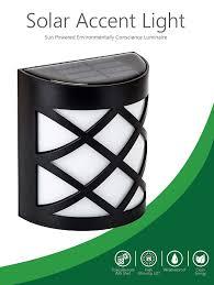 Elegant Solar Lights Maxbrite Solar Accent Light For Outdoor Patio Garden Fence Wall Or Yard Decoration Warm White Elegant Design