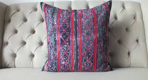 Etsy Throw Pillows Vintage Batik Hmong Pillow Cover Indigo Cotton Cushion Cover