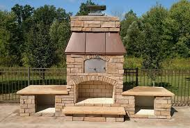 round grove outdoor fireplace pizza oven combination units