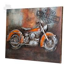 harley davidson living room wall art limited edition motorcycle metal designs