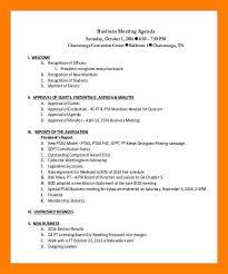 Agenda Business 9 10 Agenda Sample For Business Meeting Archiefsuriname Com