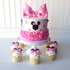 Baby Minnie Mouse 1st Birthday Cake Decorations First B Babyplanet