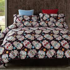 skull comforter set sugar skull bedding sets pink and black skull comforter set