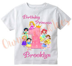Disney Princess Age Chart Disney Princess Babies Personalized T Shirt Customize Name Age Tee Designs Toddler Youth Adult Sizes Birthday Party Custom