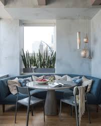 contemporary dining nook with banquette