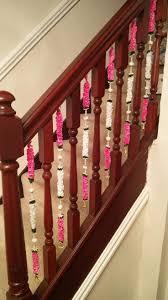1 x <b>Pink</b> / White / Green <b>Artificial</b> Flower Stairway Decoration (<b>50cm</b> ...