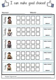 How To Make A Sticker Chart I Can Make Good Choices Weekly Sticker Chart By Mrs Penn Tpt