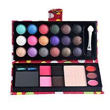 wuayi 26 colors eye shadow palette blush lipstick bination plate makeup cosmetic kit red