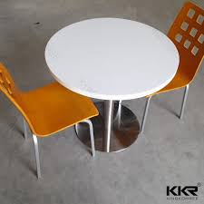 china two seaters round solid surface restaurant dining table set t170925 china restaurant furniture hotel furniture