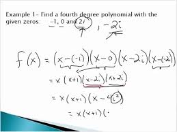 form a polynomial whose real zeros and degree are given find a polynomial given complex zeros youtube