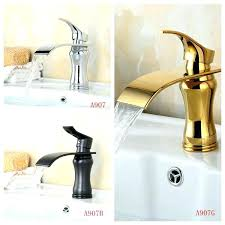 brushed gold faucet gold bathroom sink faucet waterfall bathroom faucet copper oil rubbed bronze chrome and gold finish vessel sink tap mixer gold bathroom