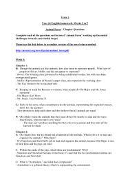 animal farm study guide answer key  term 2 week 5 to 7 year 10 animal farm homework