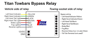 7 way bypass relay for towbars instructions for the 7 way bypass relay
