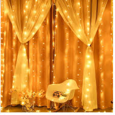 Đèn rèm, đèn led trang trí tiệc sinh nhật, phòng ngủ, quán cafe