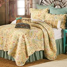western bedding full queen size wildflower paisley quilt lone star western decor