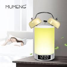 Us 5581 35 Offmumeng Usb Blutooth Speaker Nachtlampje 15 W Draadloze Kinderkamer Nachtkastje Lamp Muziek Wekker Touch Dimbare Verlichting In