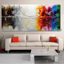 Goede Koop 100 Handgeschilderde Abstract Kleur Muur Foto Olieverf