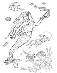 Small Picture Printable Mermaid Coloring Pages Outline coloring sheets