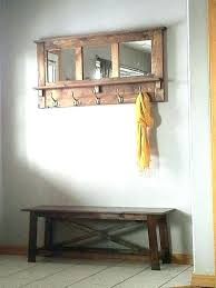 Wall Mounted Coat Rack With Mirror Gorgeous Wall Mounted Coat Rack With Shelf Zoom Wall Mounted Coat Rack With