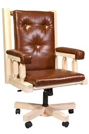 timber office furniture. Homestead Timber-Frame Upholstered Office Chair - Clear Lacquer Finish Timber Furniture