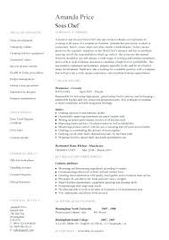 Resume For Cooks Unique Career Objective Examples For Chef Resume Combined With Sample Chef