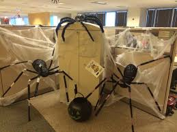 halloween office ideas. scary halloween spiders at office ideas t