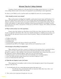 Resume For College Application Awesome Sample Resume for College Student Seeking Internship 82