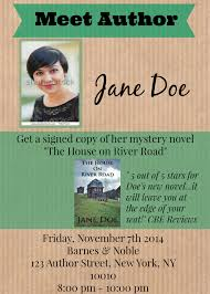 Create Event Flyer Create Event Flyer For Book Author Central