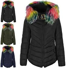 womens las quilted jacket rainbow multi crazy neon