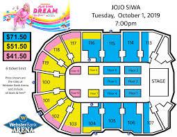 Bridgeport Webster Arena Seating Chart Nickelodeons Jojo Siwa Webster Bank Arena