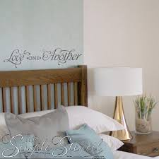 Small Picture Love One Another Romantic Vinyl Decals for Master Bedroom