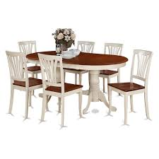 East West Furniture 7pc Rubber Wood Dining Set Sears Marketplace