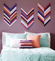 diy chevron wall decor cool diy living room wall decor best trendi on budget friendly diy