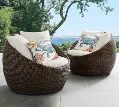 Wicker papasan chair White Torrey Allweather Wicker Papasan Chair Popsugar Torrey Allweather Wicker Papasan Chair Best Patio Furniture 2018
