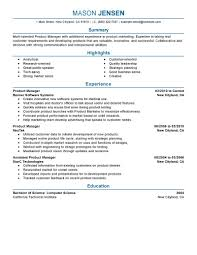 Product Manager Resume Format Job And Resume Template