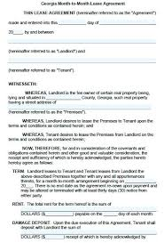 Residential Lease Agreement Template Free Month To Rental Printable ...