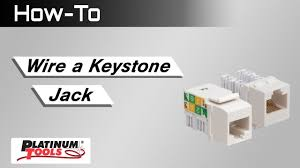how to wire a keystone jack how to wire a keystone jack