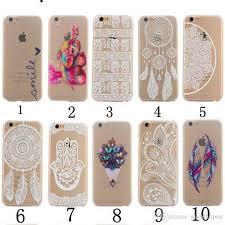 Dream Catcher Case Iphone 7 Plus Henna White Floral Paisley Flower Mandala Elephant Dream Catcher 3