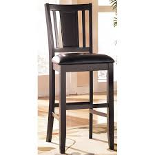Carlyle 30 Inch Wood Bar Stool Set 2 Signature Design By