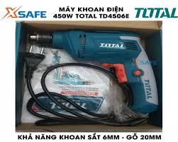 Máy khoan điện 450W TOTAL TD4506E. Máy khoan điện cầm tay tốc độ không tải  từ
