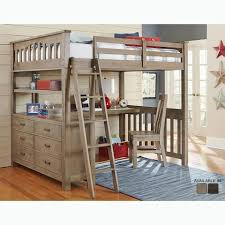 kids storage bed. Highlands Collection Driftwood Full-size Loft Bed, Dresser, And Desk Kids Storage Bed