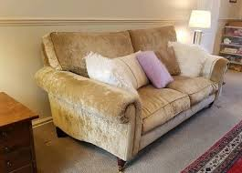 LAURA ASHLEY KINGSTON Sofa caitlyn fabric champagne biscuit Stone Staffs -  £225.00   PicClick UK