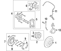 parts com® kia hub assy rr wheel partnumber 527502b100 2011 kia sorento ex l4 2 4 liter gas brake components