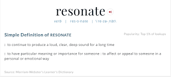 image result for resonate definition
