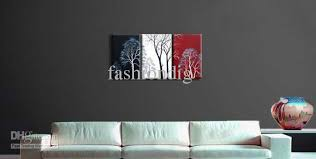 2021 abstract wall tree black white red