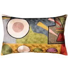 lumbar kandinsky soul flood decorative pillow cover silk hand