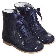 children s classics girls navy blue patent side zip leather boots childrensalon