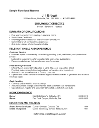 Sample Resume For Bartender Server Free Resume Templates