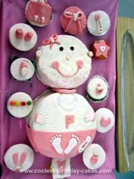 Coolest Girl Baby Shower Cake Cupcakes